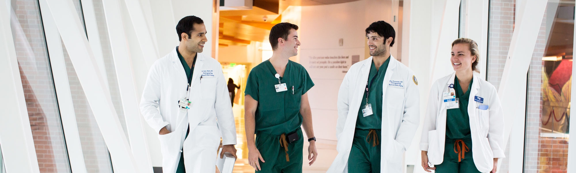 Residents and students walking through UCSF Medical Center