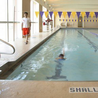 A swim lane in the indoor pool