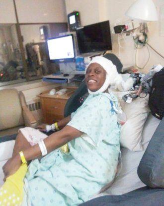 Рашетта Хиггинс после операции в Медицинском центре UCSF