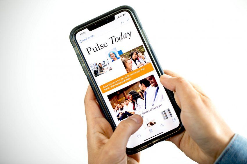 Pulse Today newsletter on a mobile phone